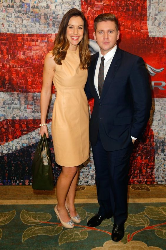 Pin for Later: Stars Flock to BAFTA's Award Season Tea Party Charlie Webster and Allen Leech