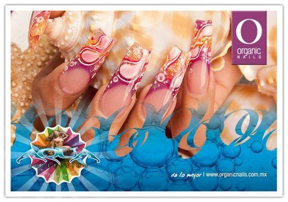Aqua Collection... Canto de Sirenas. Organic® Nails