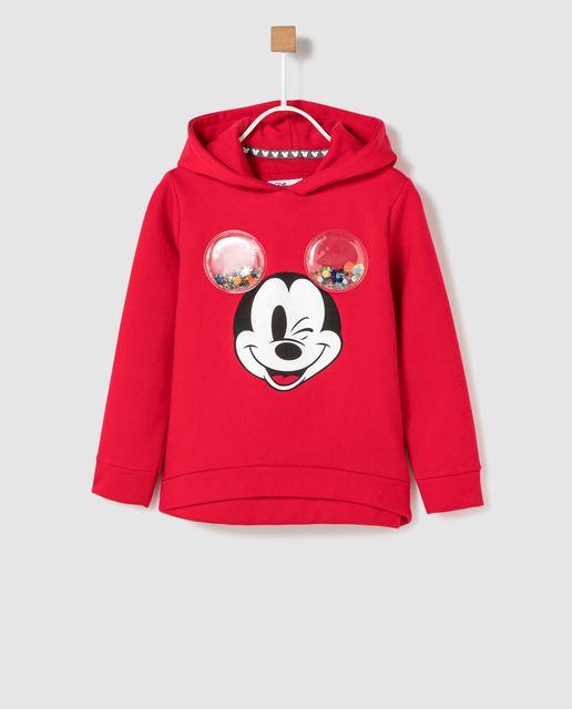 Sudadera De Niña Disney De Mickey Con Glitter Sweatshirts Baby Clothes Mickey Mouse