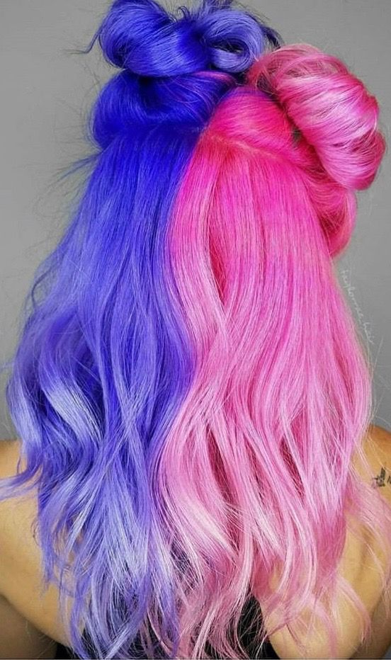 Pin By Luna Sea On Andrea S References Drawings In 2020 Half And Half Hair Hair Inspo Color Split Dyed Hair