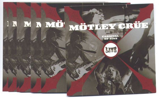MOTLEY CRUE Carnival Of Sins set of 10 promo-only stickers MINT