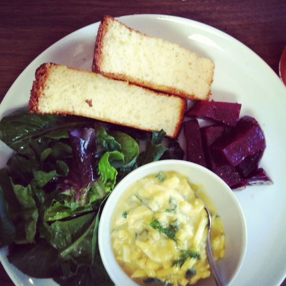 farmhouse egg salad with beets