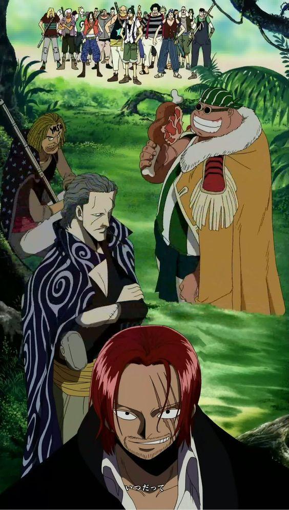 出航する赤髪海賊団