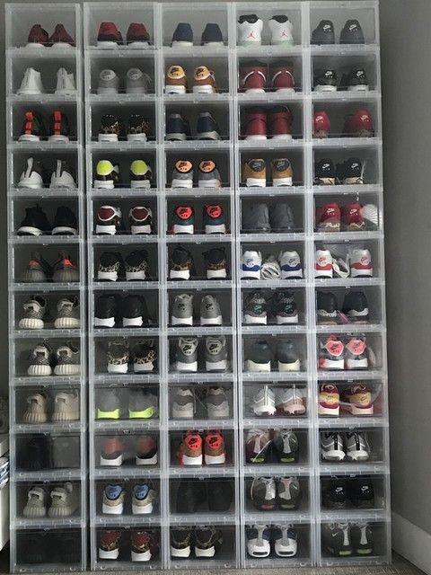 Large Drop Front Shoe Box Shoe Box Storage Shoe Storage Shoe Storage Containers