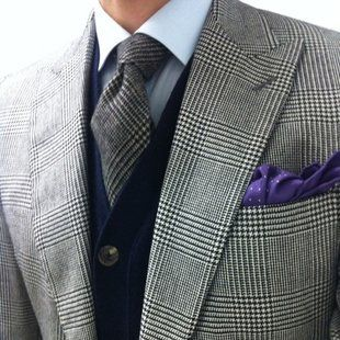 Glen Check Tie by Drake's London
