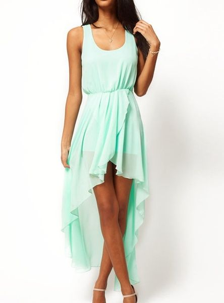 I found 'Wide Dovetail Chiffon Green Dress' on Wish, check it out!