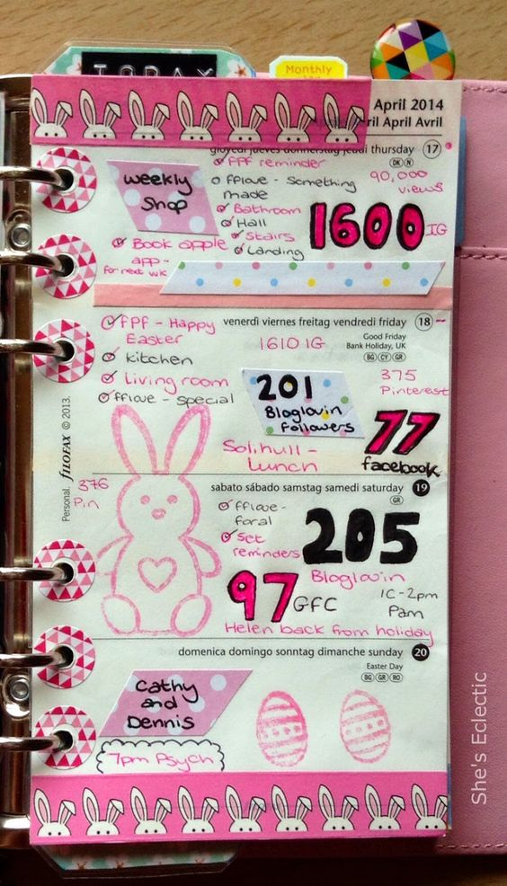 She's Eclectic: My week in my Filofax #16 - close up