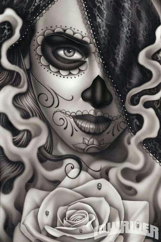 Catrinas, Tatuajes, Dibujos, Catrina Santa, La Catrina, Calavera Catrina, Raza, Avatares, Firme