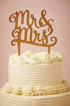 Mr. & Mrs. cake topper http://www.theperfectpaletteshop.com