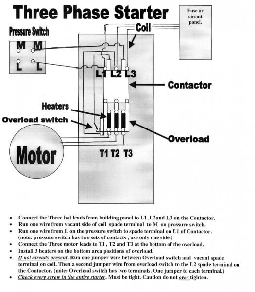 Magnetic Starter For Air Compressor | Dry type transformer, Air ... 4 wire single phase motor connection Pinterest