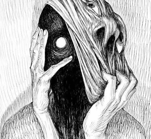 Behind The Face Dark Drawings Horror Art Art