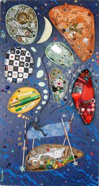 'Sleep Eludes'  mixed media  Steve Zihlavsky