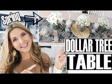 Dollar Tree Dining Room Table Decor Diy Spring Centerpiece Youtube Diy Table Decor Diy Dining Room Table Dining Room Table Decor