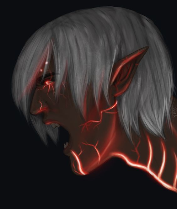 "vess-hs: "" I've had a Red Lyrium!Fenris in my head the past few days and I finally got around to drawing it. """