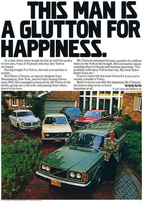 great volvo ad- I'm gonna be like him