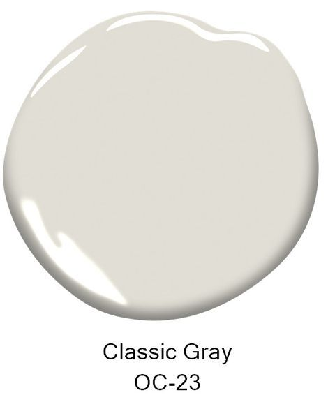 benjamin moore classic gray / Hints of white make this a versatile hue.