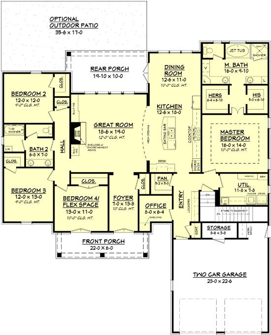 House Plan 041 00105 French Country Plan 2 480 Square