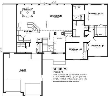 Country House Plans 1700 Sq Ft 1700Sq Ft 5 Bedroom Ranch Floor