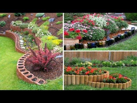 Easy Top 80 Cheap Diy Edging Ideas Youtube Cheap Landscaping