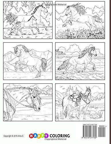 Beautiful Horses - Coloring Book for Adults: Happy ...