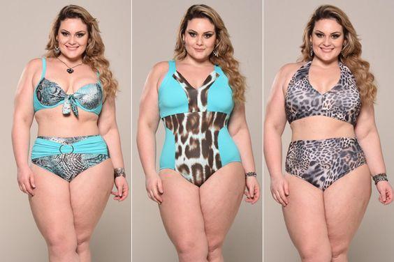 Top plus size Aline Zattar dá dicas de biquínis e maiôs para o verão
