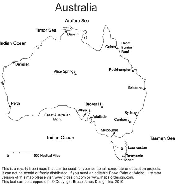 Australia printable blank map royalty free New Zealand Sydney – Map Australia Sydney