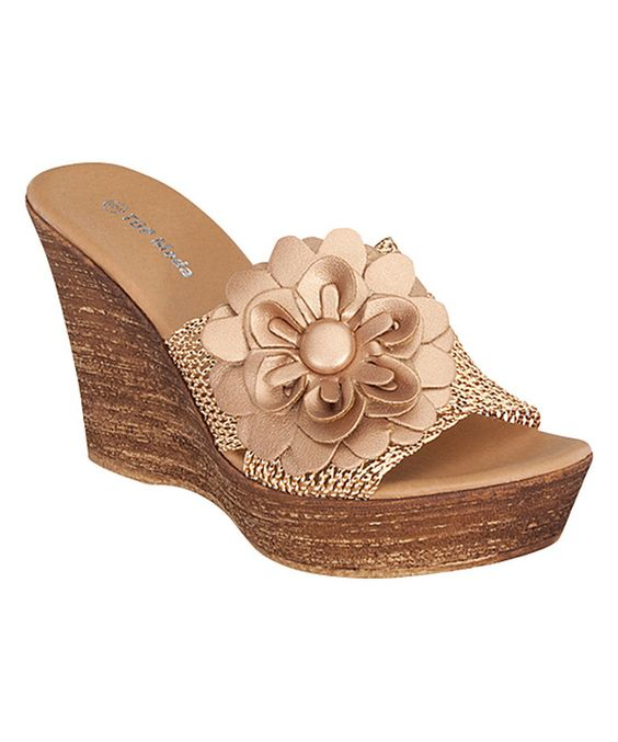 Another great find on #zulily! Bronze Metal Wedge by TOP MODA #zulilyfinds