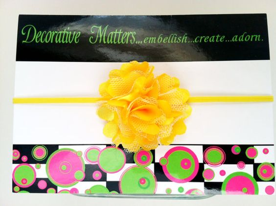 Headband with Satin and Tulle FlowerU pick by DecorativeMatters, $6.00