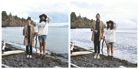Projeto Fotográfico em que casais trocam de roupa. Créditos: Hana Pesut