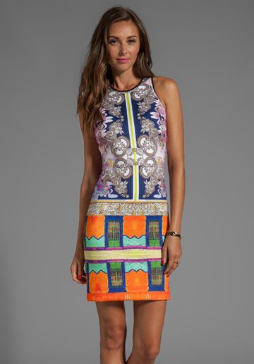 Clover Canyon Palace Interior Neoprene Dress in Multi