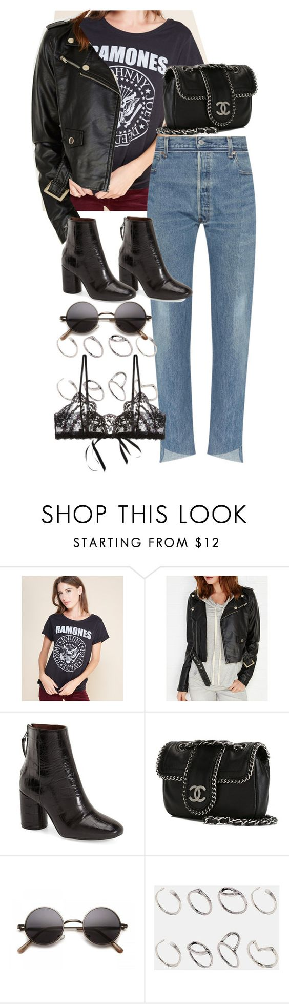 """""""Untitled #9859"""" by nikka-phillips ❤ liked on Polyvore featuring Bravado, Wet Seal, Topshop, Chanel, ASOS and Hanky Panky"""