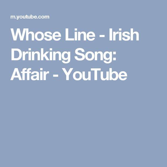 Whose Line - Irish Drinking Song: Affair - YouTube