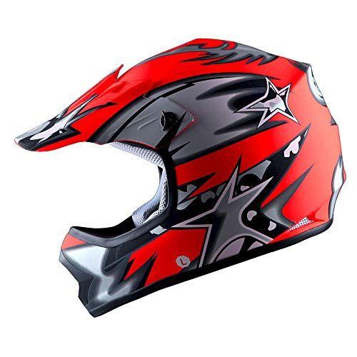 Wow Youth Kids Motocross Bmx Mx Atv Dirt Bike Helmet Star Matt Red For Price And Product Info Go To Https Kids Motocross Gear Dirt Bike Helmets Bike Helmet