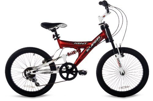 Kent Super 20 Boys Bike (20-Inch Wheels), Red/Black/White