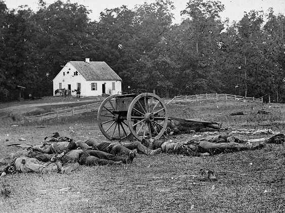 Confederate dead near the Dunker Church at Antietam (Sharpsburg), MD