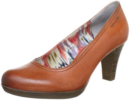 Tamaris 1-1-22410-20, Damen Pumps, Orange (PAPAYA 603), EU 38 - http://on-line-kaufen.de/tamaris/38-eu-tamaris-1-1-22410-20-damen-plateau-6