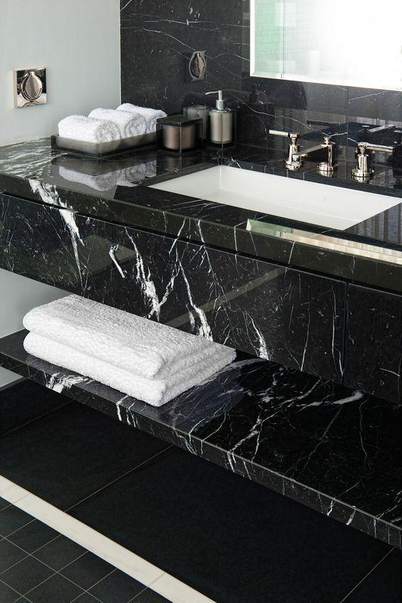 Black And White Marble Bathroom Black Marble Bathroom White