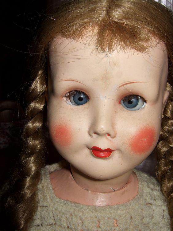 Schöne alte Puppe 56 cm und gemarktet ....Emaso | eBay