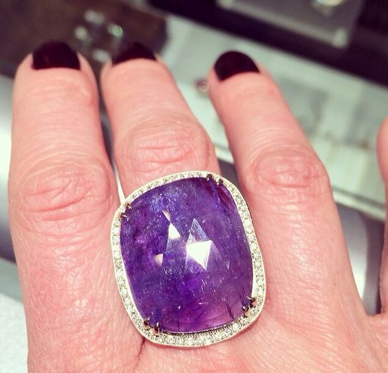The most gorgeous tanzanite ring by Anne Sportun available at Quadrum- photo credits: www.instagram.com/jewelry_maven