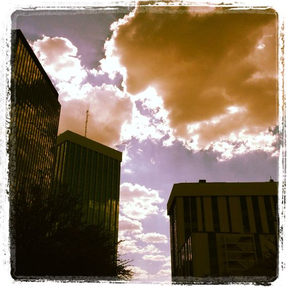 Clouds over downtown #tucson