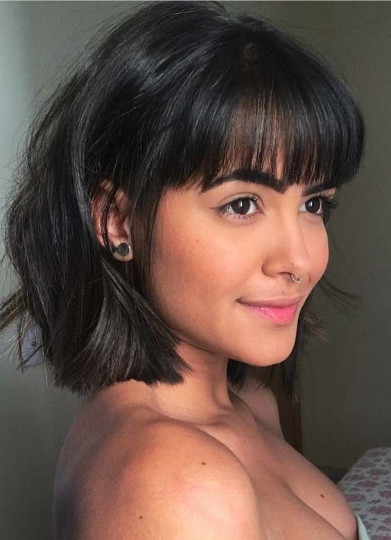 Stylish Short Haircuts With Front Bangs To Flaunt In 2018 Short Hair With Bangs Womens Short Bob Hairstyles Stylish Short Haircuts