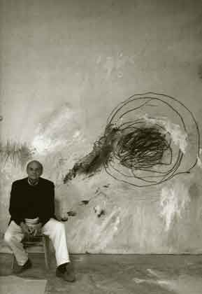 CY Twombly. Childlike and immediate. Like he ran into the room, closed his eyes, and just went for it.