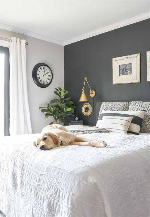 Enhance Your Bedroom With The Ideal Paint Color Design And Enhanci Modern Farmhouse Master Bedroom Farmhouse Style Bedroom Decor Modern Farmhouse Style Bedroom