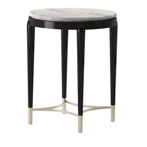 Oscar Marble Top Tall Side Table In 2020 Tall Side Table Side
