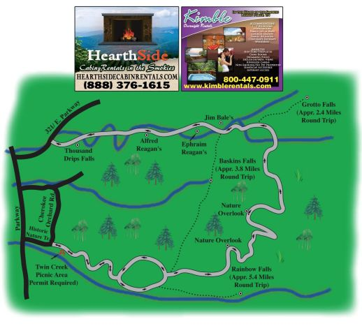 Roaring Fork Motor Nature Trail Map Area Maps For The