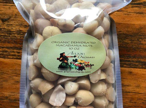 Organic Dehydrated Macadamia Nuts 10 Oz ʻailani Orchards Macadamia Nuts Macadamia Roasted Nuts