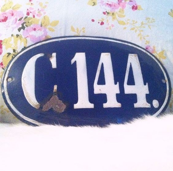 Rare Vintage French House Number Sign - French Country - London - England - English - Vintage - Antique - Art Deco - Decorative Wall Hanging