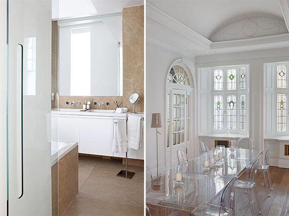 Un apartamento de lujo en Londres por Teresa Sapey · Detalles del baño y ese espectacular comedor !!!