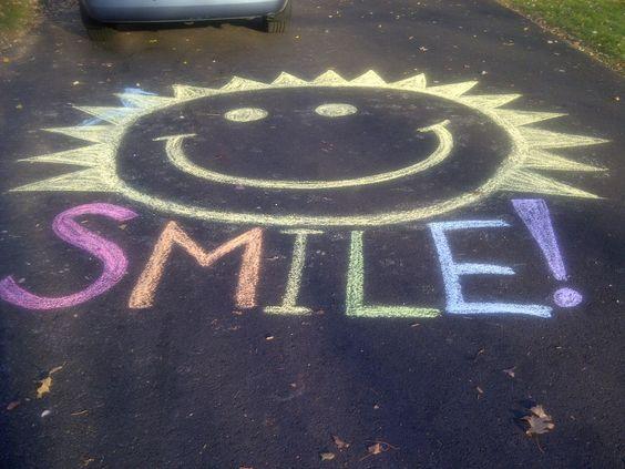 Sidewalk chalk, Sidewalks and Cool things to draw on Pinterest