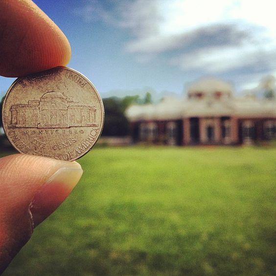 #monticello #thomasjefferson #nickel (Instagram user: mark_obrien)